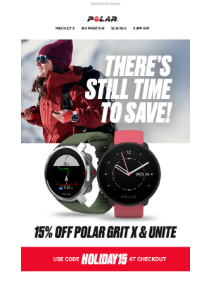Polar - There's still time to save!
