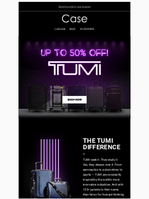Case Luggage - Save Up To 50% Off TUMI at Case! 🖤