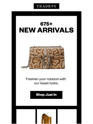 Tradesy - 675+ New Arrivals This Week