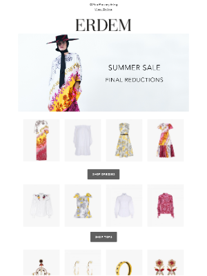 Summer Sale | Final Reductions