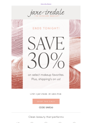 jane iredale - Exclusive offer ends tonight!