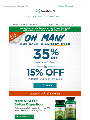 Swanson Health Products - 🚨 Don't forget to save up to 35% on (almost) everything today