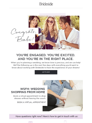 Brideside - Welcome to Brideside! Let's get started.