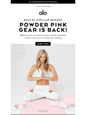 Alo Yoga - 💗 PINK GEAR. PINK LOOKS. PINK EVERYTHING. 💗