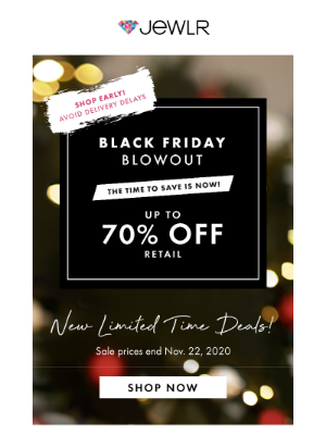 Jewlr - BLACK FRIDAY BLOWOUT! Up To 70% Off + New Exclusive Deals