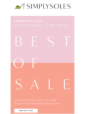 Simply Soles - The Summer Sale: Last Day to Save