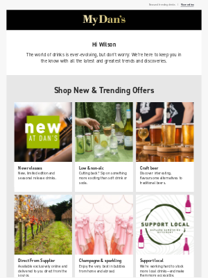 Hi Wilson - Discover offers on new and trending drinks!