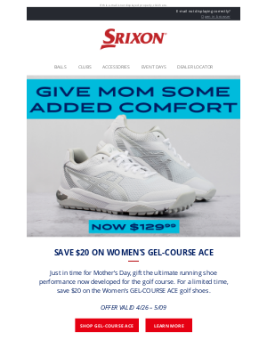 Srixon - Mother's Day Gifting Made Easy | Srixon