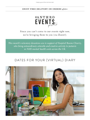 Anthropologie (UK) - Peek a look at March's events! 🥂