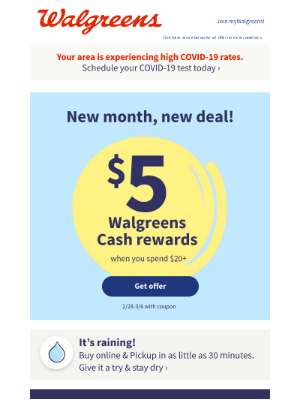 You have $5 in rewards inside! Join myWalgreens by 4/16 so you can keep your benefits!