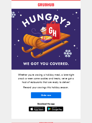 GrubHub - Get holiday deliveries from these tasty spots!