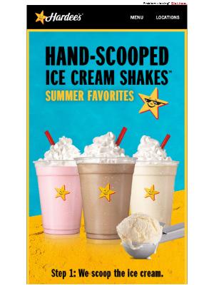 Hardee's - Shake the heat