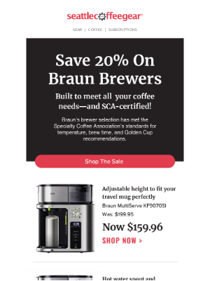 Seattle Coffee Gear - Brew for Less With Braun🌟