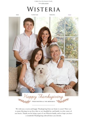 Happy Thanksgiving, from our family to yours