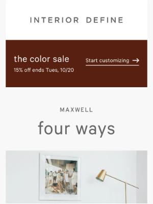Interior Define - 4 ways to customize Maxwell