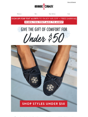 Minnetonka Moccasin - 🎁 Under $50 Gift Ideas for the Whole Family