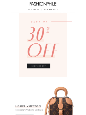 FASHIONPHILE - The Best of 30% Off