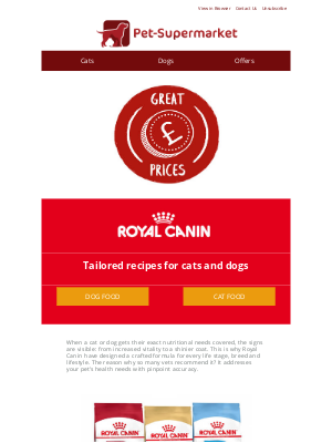 Pet-Supermarket (UK) - Healthy pets with Royal Canin