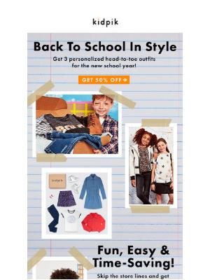 Kidpik - 📚 50% Off Baby Girl's School Outfits