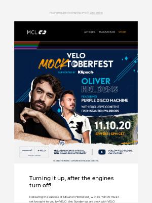 McLaren - Are you ready for Mocktoberfest?