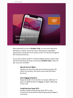 Qatar Airways - Introducing an exclusive programme for students