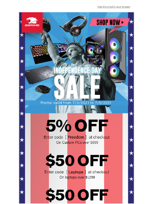 iBUYPOWER - Independence Day Sale Starts NOW!🎆