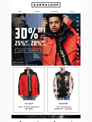 Starting Now >> up to 30% Off New Jackets