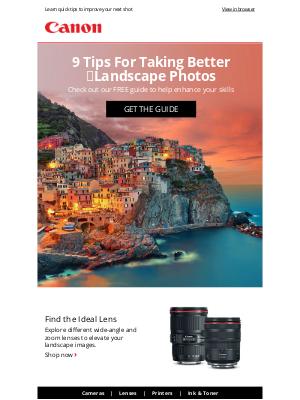 Canon - Capture Landscapes Like a Pro 📷