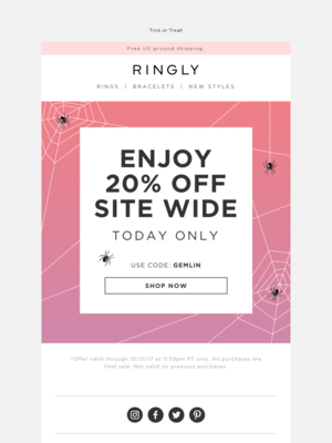 RINGLY - This Sale Is FaBOOlous 👻