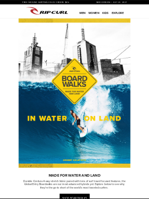Rip Curl - The Ultimate in Water & On Land | Global Entry Boardwalk