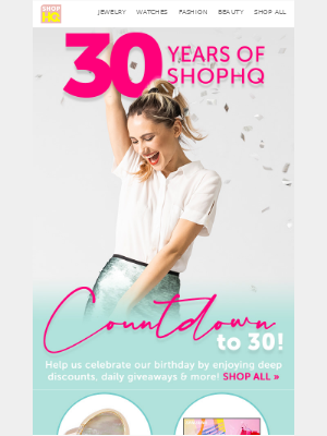 ShopHQ - We're giving *you* the gift of deep discounts for our birthday! 🎂