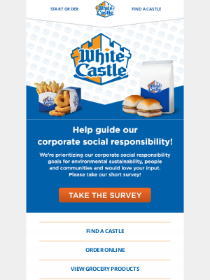White Castle - Survey time!