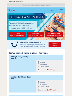 TUI (UK) - We've got holiday deals for everyone...
