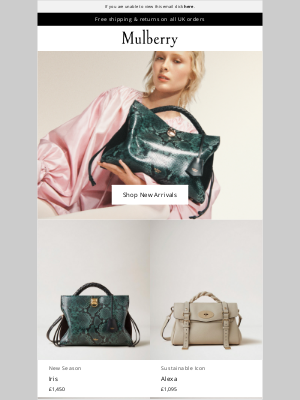 Mulberry (UK) - New In: New Year Arrivals