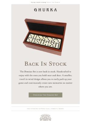 Ghurka - The Domino Set | Back In Stock