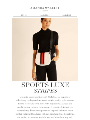 Amanda Wakeley (UK) - Sports Luxe Stripes