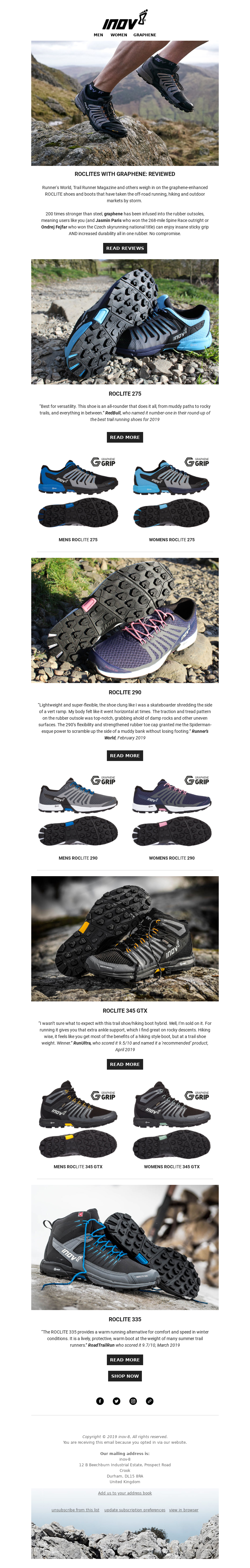 Running email example from inov-8