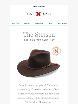 New: The Stetson 20X Anniversary Hat