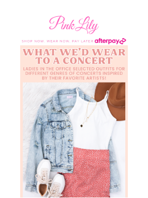 The Pink Lily Boutique - what we'd wear to a concert🎵