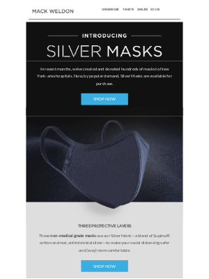 Silver Masks are here.