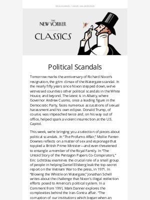 New Yorker - Political Scandals