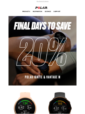 Polar - 20% off ends Sunday!