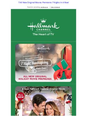 Hallmark - Hallmark Channel's 7 Night Thanksgiving Movie Event!