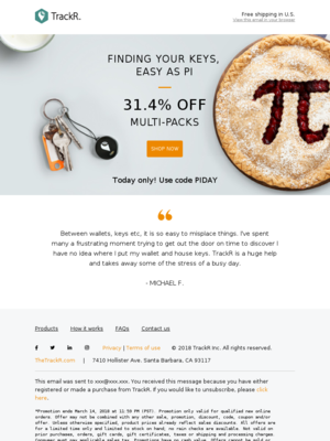 Save 31.4% off – today only! What's better than a Pi Day sale?