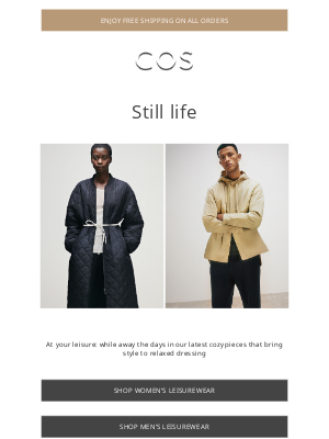 COS - New leisurewear | Free shipping ends tomorrow