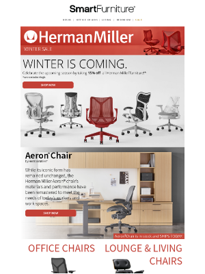 Smart Furniture, Inc. - Herman Miller Sale is Midway Over! Come Checkout What's Left!