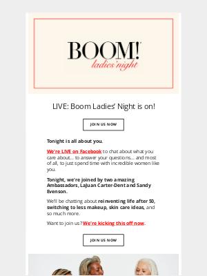 BOOM by Cindy Joseph - LIVE: Boom Ladies' Night is on!