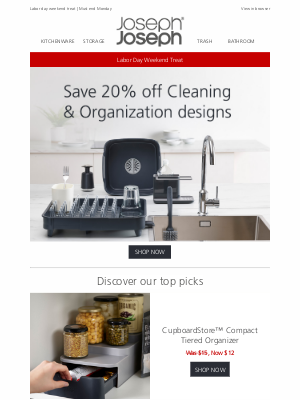 Joseph Joseph - 20% off Cleaning & Organization designs