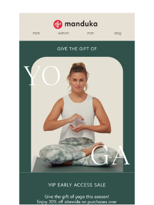 Manduka - 🙏 Benefits Of Being Our VIP: Sitewide Sale