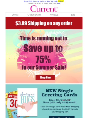 Current Catalog - Your Tuesday Treat: $3.99 Shipping For Our Big Summer Sale